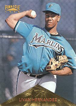 1996 Pinnacle Livan Hernandez Rookie Card