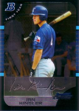 Ian Kinsler Bowman Chrome Rookie Card