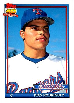 1991 Topps Traded Ivan Rodriguez Rookie Card
