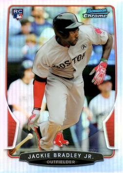 2013 Bowman Chrome Refractor Jackie Bradley Jr Baseball Rookie Card