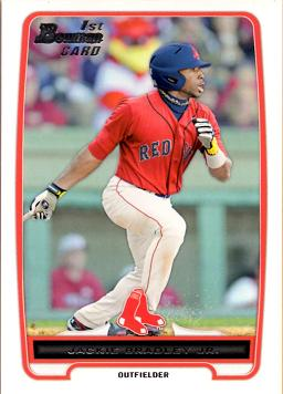 Jackie Bradley Jr First Bowman Baseball Card