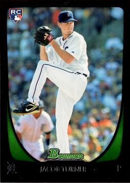 2011 Bowman Draft Picks Jacob Turner Rookie Card