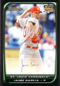 2008 Bowman Draft Picks Jaime Garcia Rookie Card