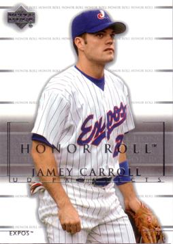 2002 Upper Deck Prospects Jamey Carroll Rookie Card