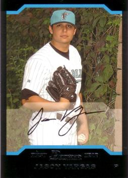 2004 Bowman Draft Picks Jason Vargas Rookie Card