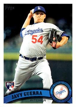 2011 Topps Update Javy Guerra Rookie Card
