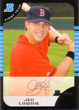 2005 Bowman Draft Picks Jed Lowrie Rookie Card