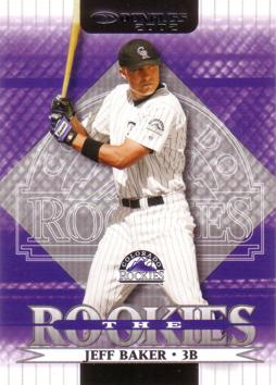2002 Donruss the Rookies Jeff Baker Rookie Card
