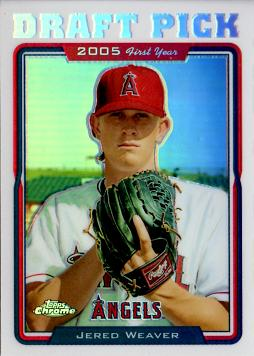 Jered Weaver Topps Chrome Refractor Rookie Card