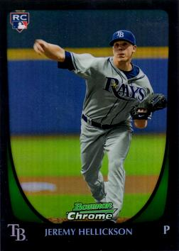Jeremy Hellickson Bowman Chrome Refractor Rookie Card
