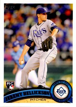 2011 Topps Jeremy Hellickson Rookie Card