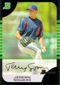 2005 Bowman Jeremy Sowers First Regular Bowman Card