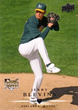 2008 Upper Deck Jerry Blevins Rookie Card