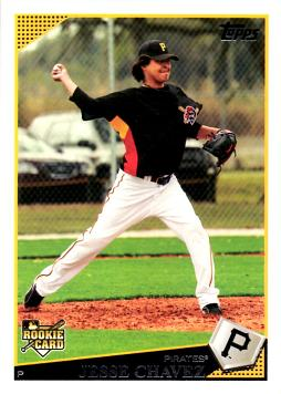 2009 Topps Baseball Jesse Chavez Rookie Card