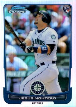 2012 Bowman Chrome Refractor Jesus Montero Rookie Card