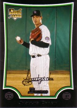 2009 Bowman Draft Picks Jhoulys Chacin Rookie Card