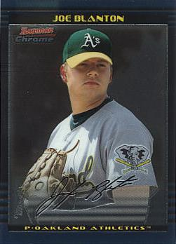 2002 Bowman Chrome Draft Picks Joe Blanton Rookie Card