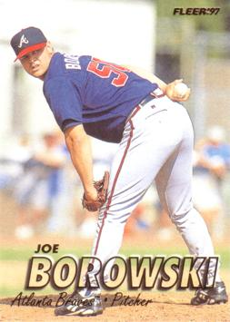 1997 Fleer Joe Borowski Rookie Card