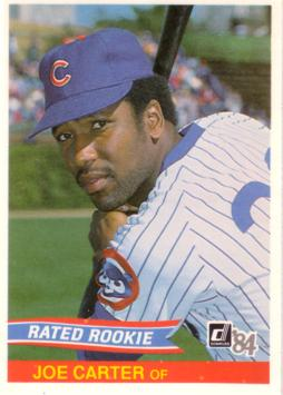 1984 Donruss Joe Carter Rookie Card