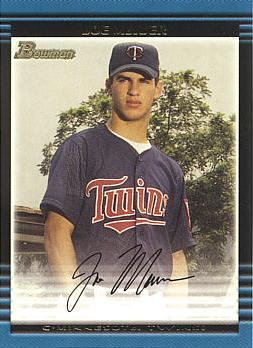 Joe Mauer Bowman Rookie Card