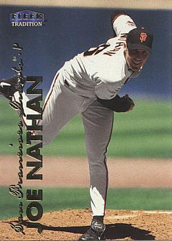 1999 Fleer Update Joe Nathan Rookie Card