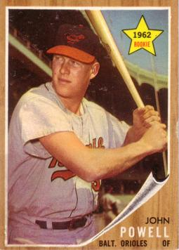 1962 Topps Boog Powell Rookie Card