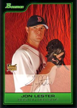 2006 Bowman Draft Picks Jon Lester Rookie Card