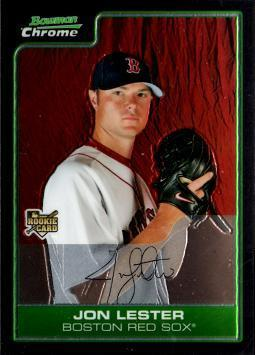 2006 Bowman Chrome Draft Picks Jon Lester Rookie Card