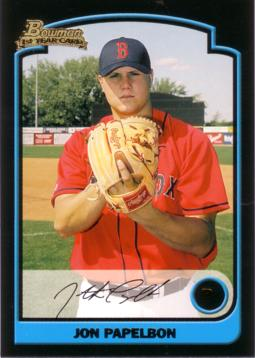 2003 Bowman Draft Picks Jon Papelbon Rookie Card