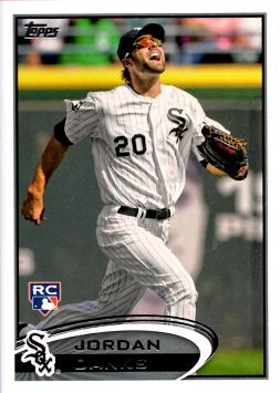2012 Topps Update Jordan Danks Rookie Card