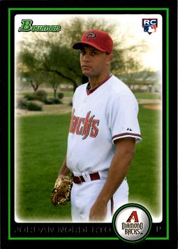 2010 Bowman Draft Picks Jordan Norberto Rookie Card