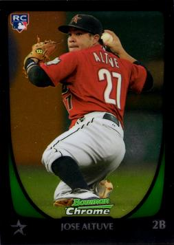 Jose Altuve Bowman Chrome Rookie Card