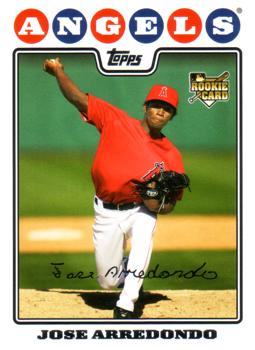 2008 Topps Update Jose Arredondo Rookie Card