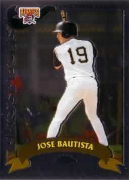 Jose Bautista Topps Chrome Rookie Card