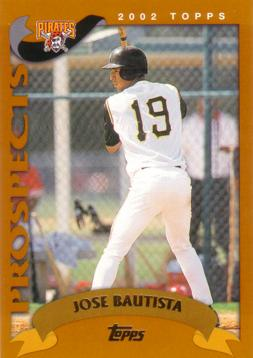 2002 Topps Traded Jose Bautista Rookie Card