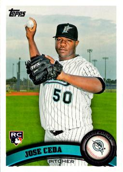 2011 Topps Jose Ceda Rookie Card