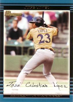2002 Bowman Draft Jose Lopez Rookie Card