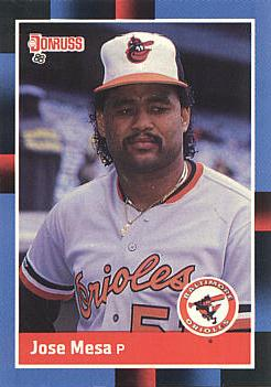 1988 Donruss Jose Mesa Rookie Card