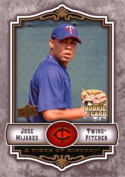 2009 UD A Piece of History Jose Mijares Rookie Card