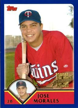 2003 Topps Traded Jose Morales Rookie Card