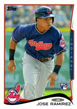 2014 Topps Baseball Jose Ramirez Rookie Card