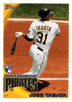 2010 Topps Update Jose Tabata Rookie Card