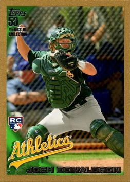 2010 Topps Update Gold Josh Donaldson Rookie Card