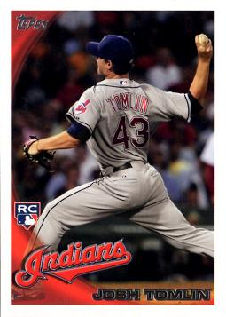2010 Topps Update Josh Tomlin Rookie Card
