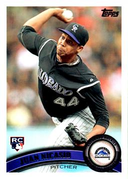 2011 Topps Update Juan Nicasio Rookie Card