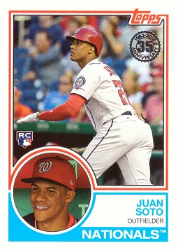2018 Topps Update Baseball Juan Soto Rookie Card