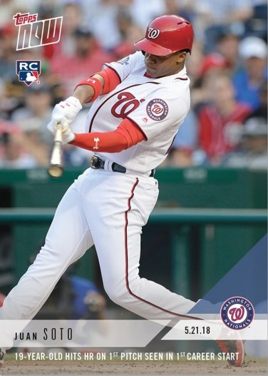 2018 Topps Now Baseball #323 Gleyber Torres and Juan Soto Dual Rookie Card Only 2,769 made!
