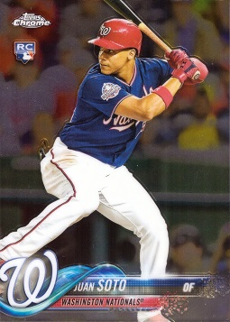 Juan Soto 2018 Topps Update Chrome Rookie Card