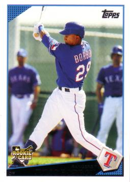 2009 Topps Update Julio Borbon Rookie Card