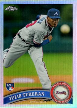 2011 Topps Chrome Refractor Julio Teheran Rookie Card